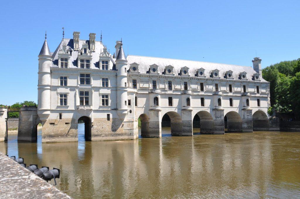 Le château de Chenonceau sur la rivière Cher