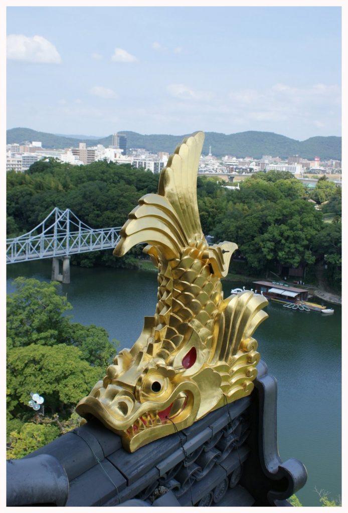 Vue depuis le sommet du château d'Okayama