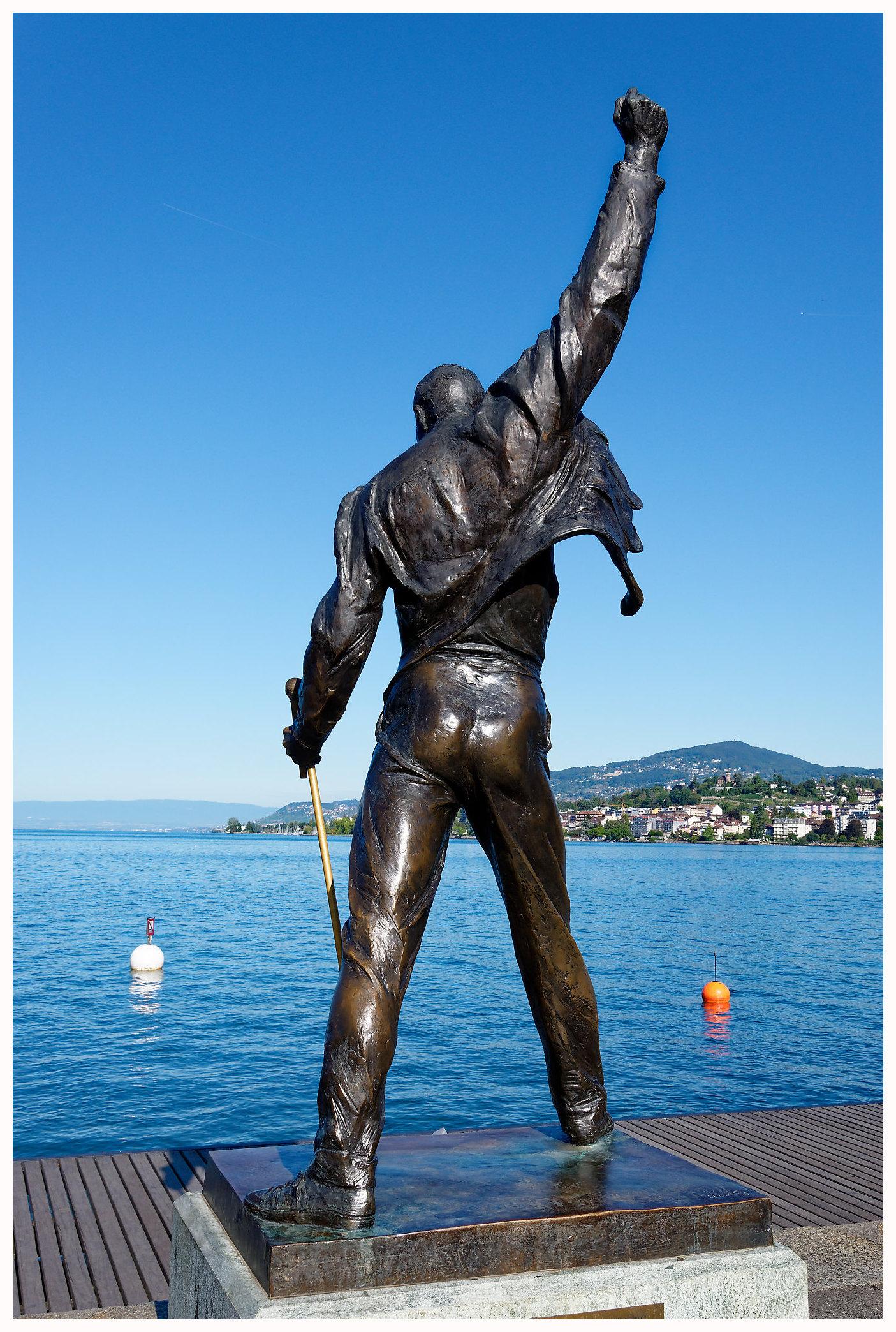 La statue de Freddie Mercury à Montreux