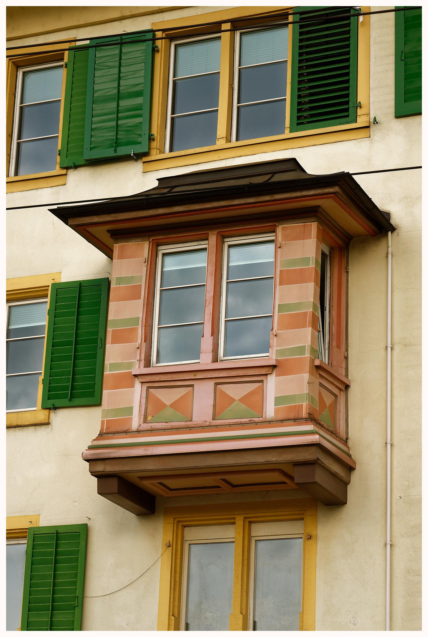 Fenêtre ancienne à Zurich