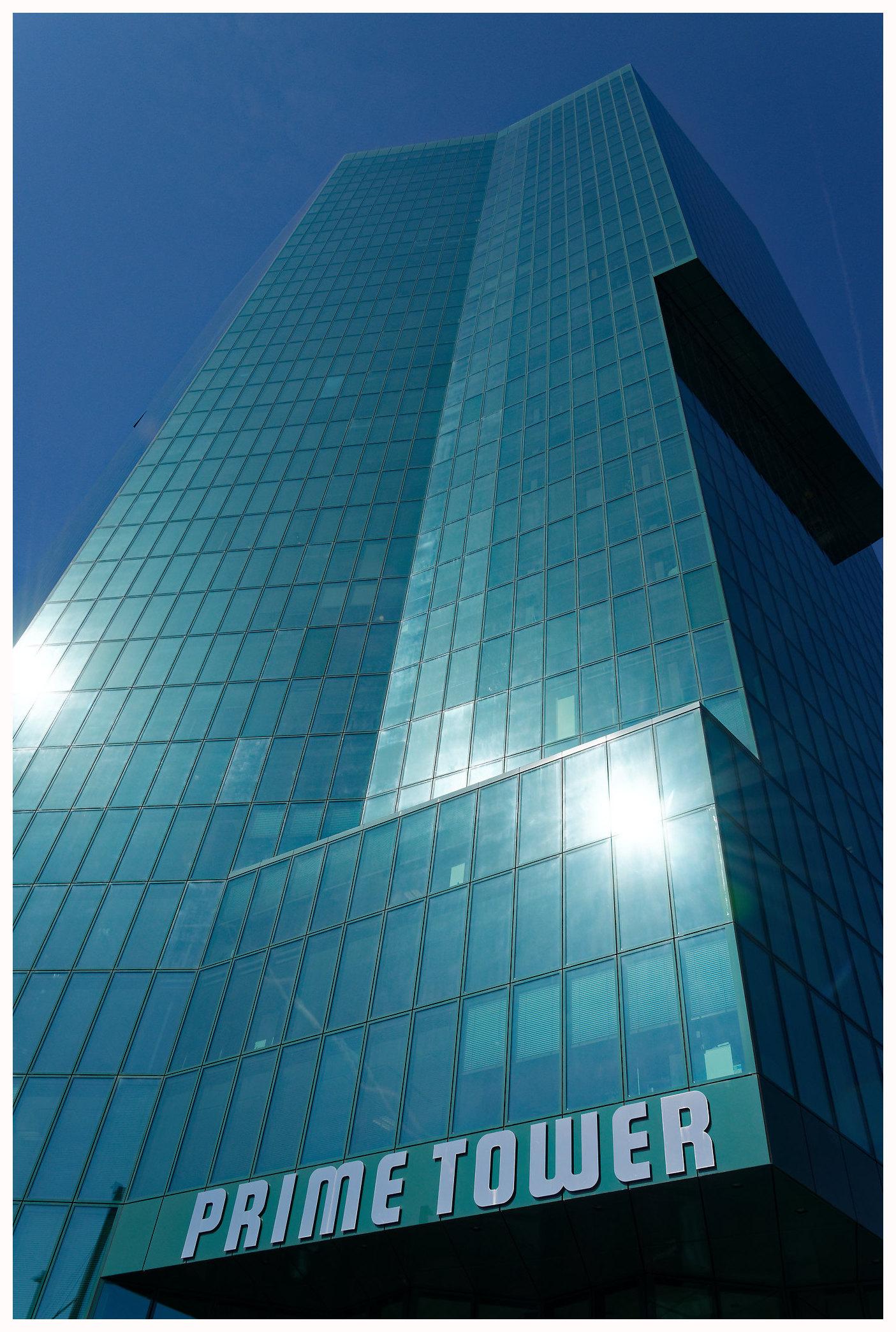 Architecture moderne à Zurich avec la Prime Tower