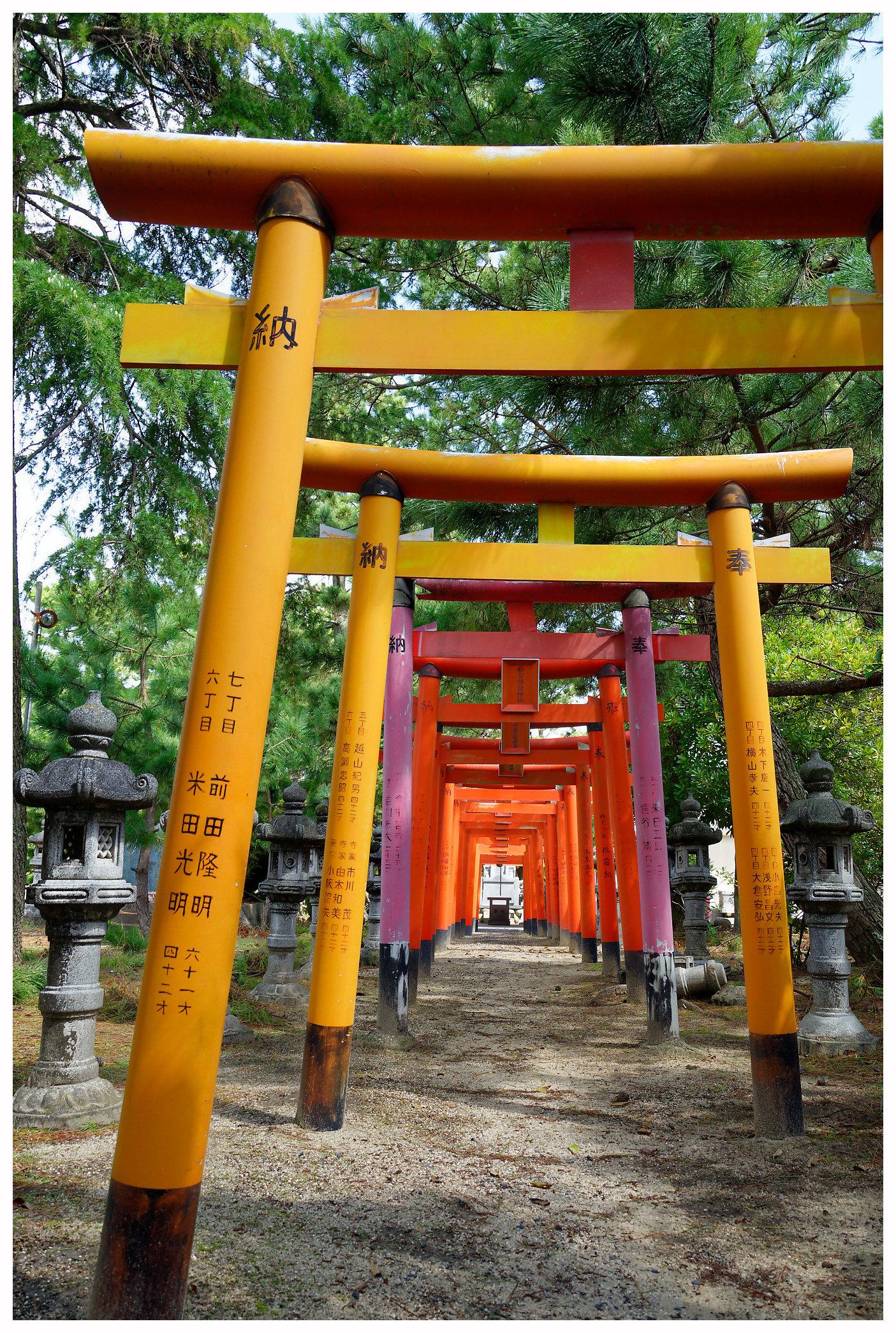 sanctuaire shinto à Shiroko au Japon
