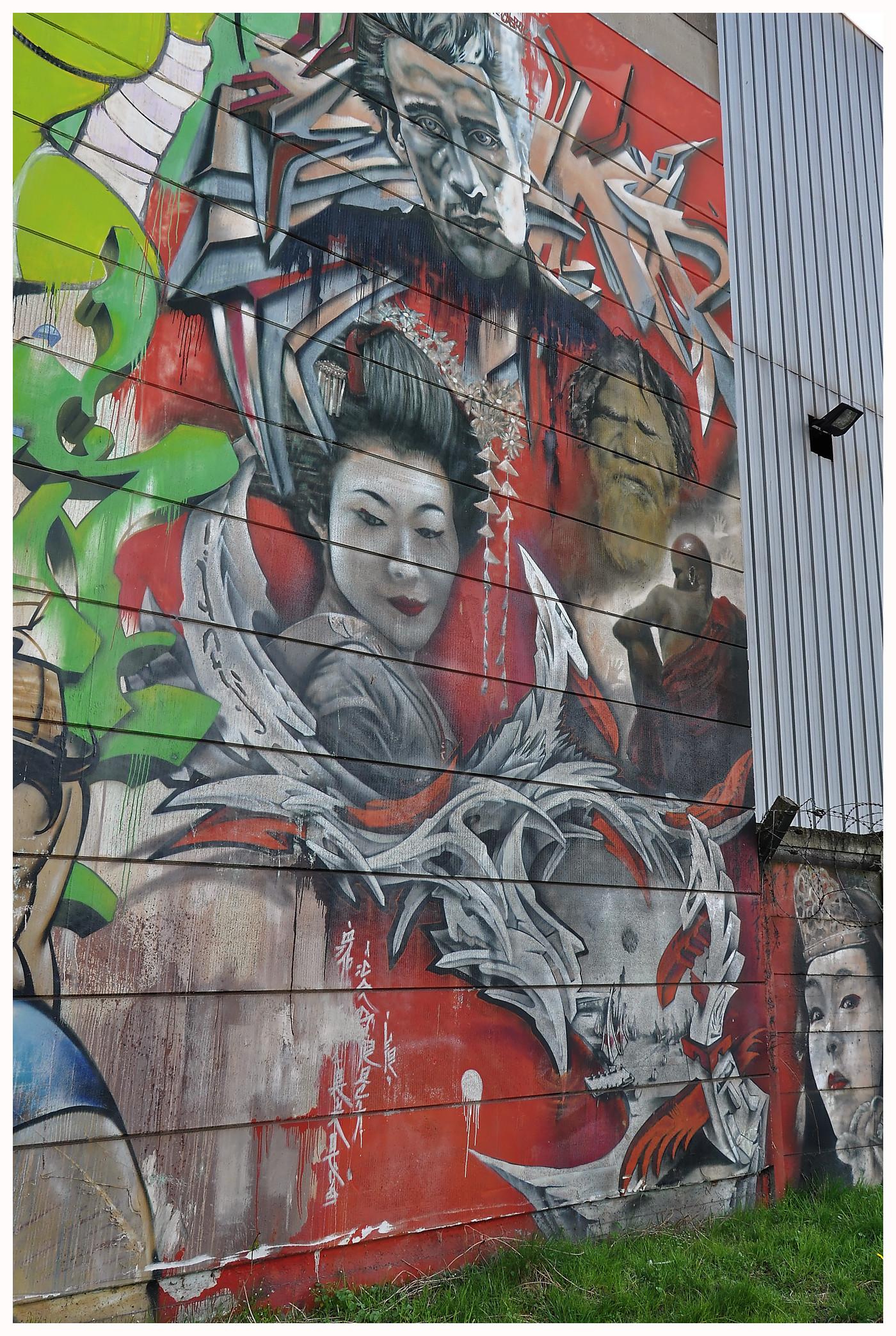 """Street-art à Charleroi, la ville """"la plus laide du monde""""..."""