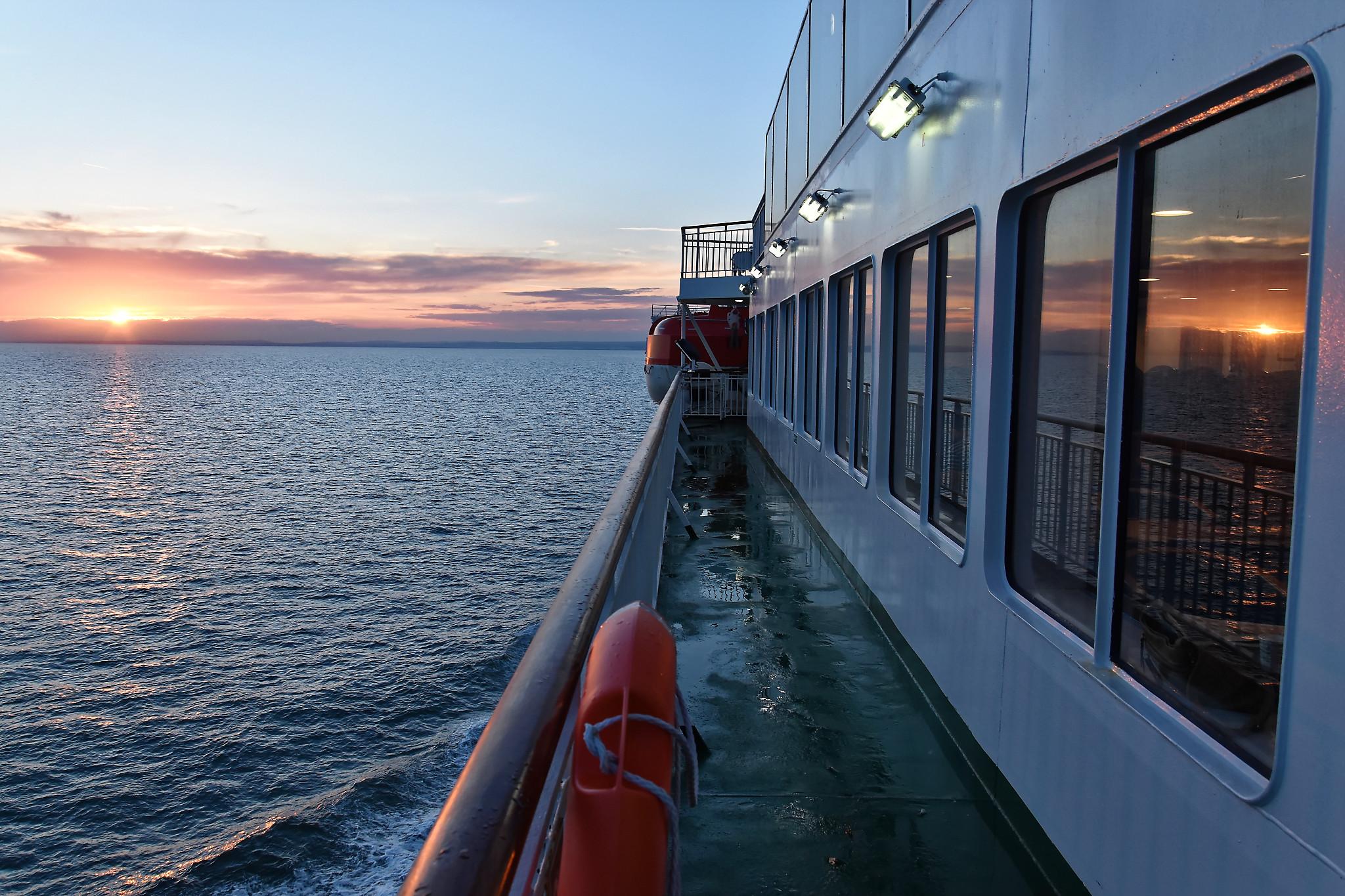 De Paris à Londres à vélo: traversée de la Manche en ferry