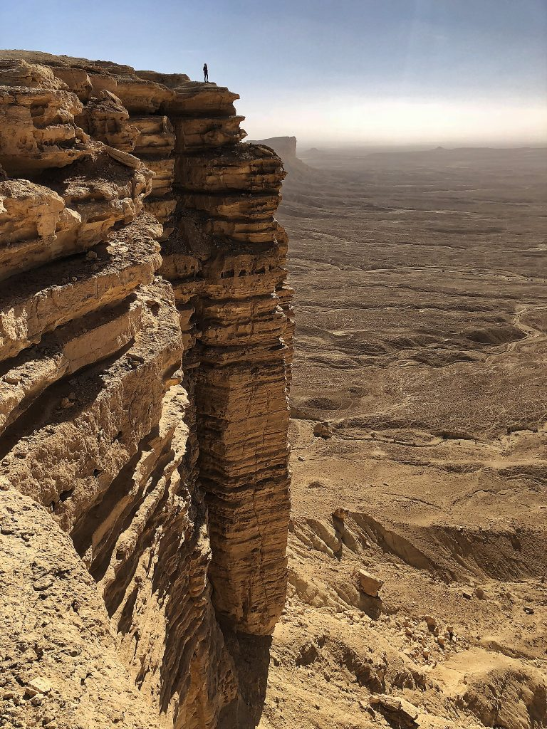 Voyage en Arabie Saoudite: panorama The Edge of the World près de Riyad