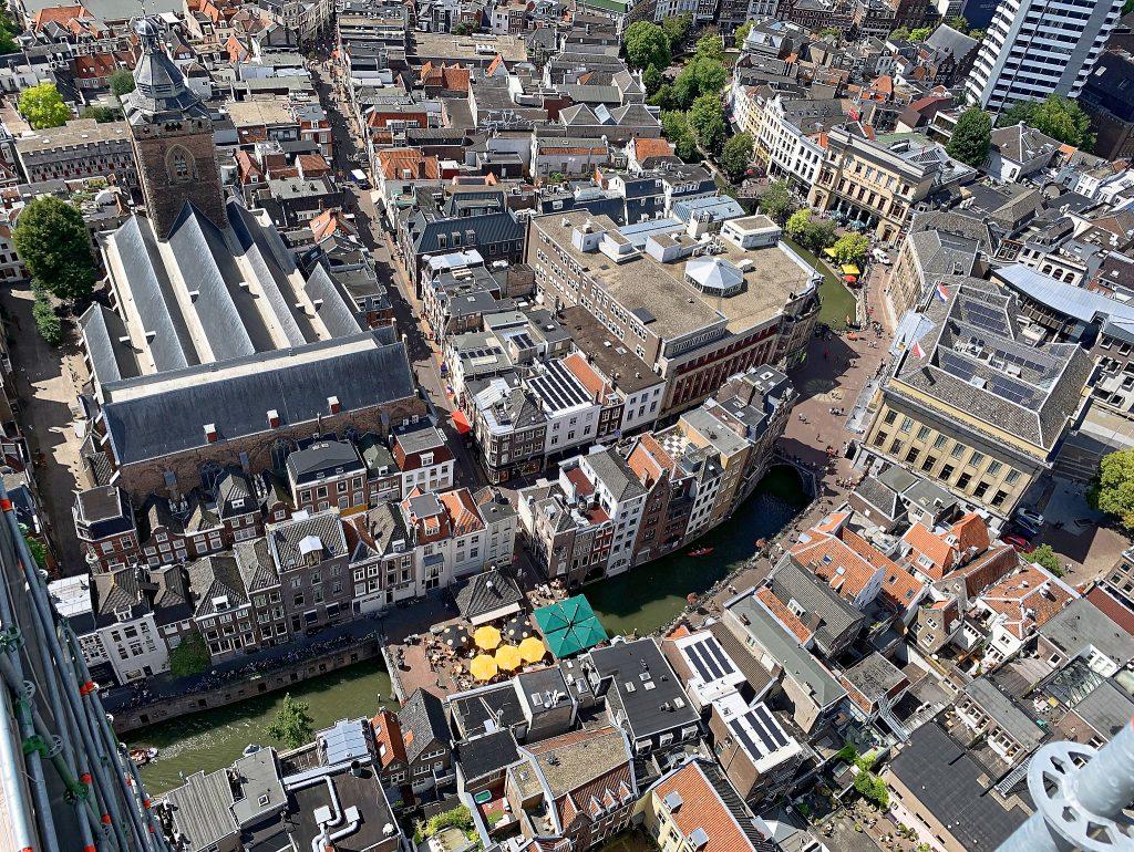 Utrecht vue d'en haut, incontournable Domtower